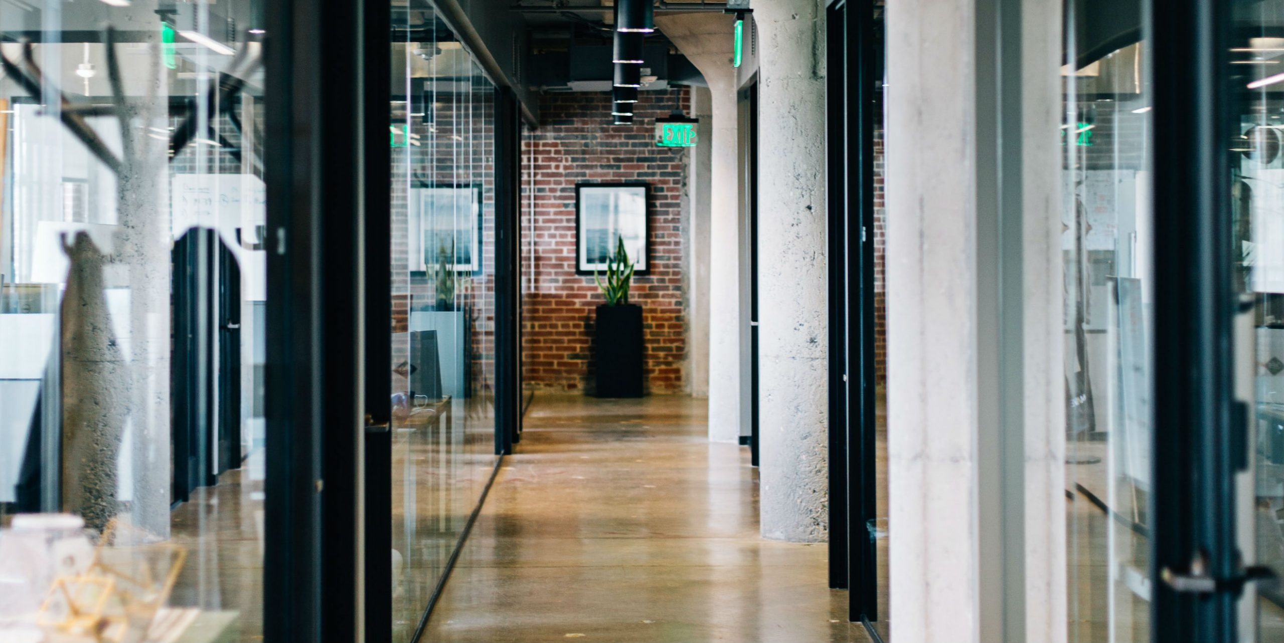 Glazed Office Interior